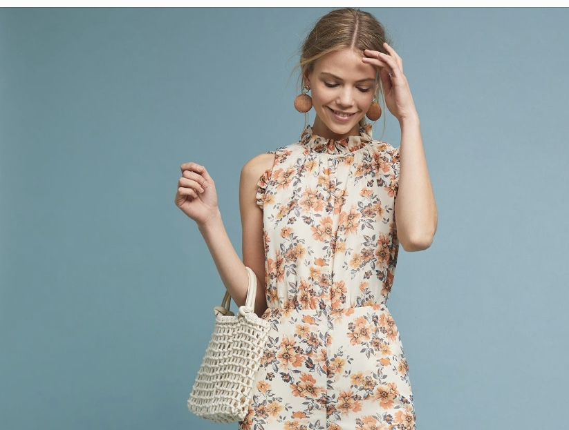 floral jumpsuit anthropologie