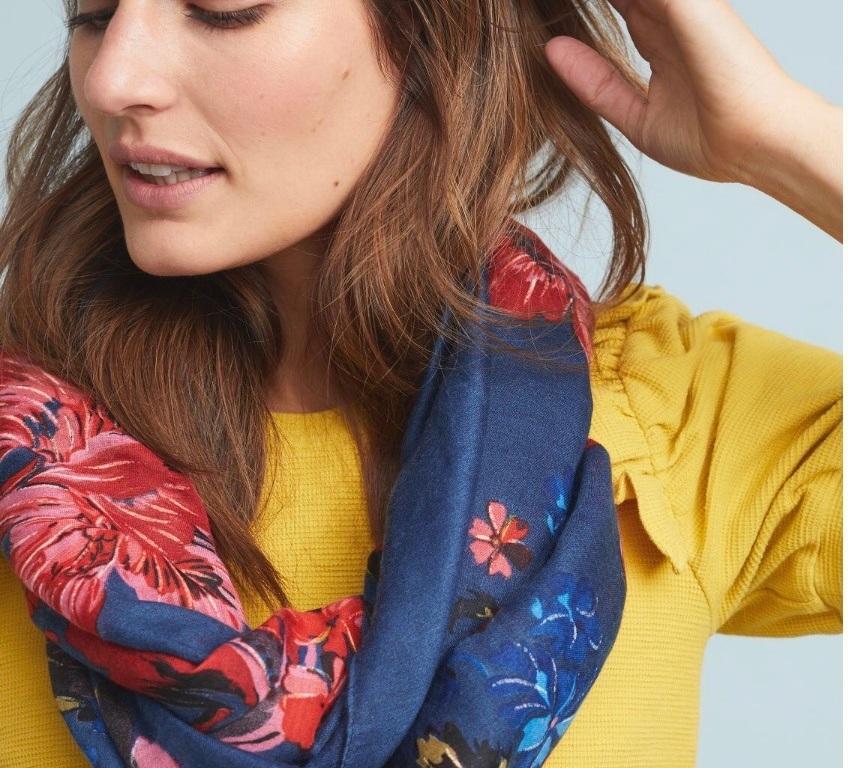 floral scarf Anthropologie